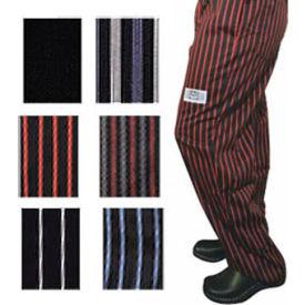 E Z Fit Chef'S Pants, 4X, Black/White Pin Stripe
