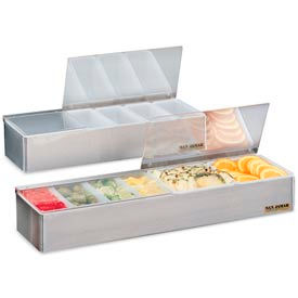 """Non-Chilled Garnish Trays, 3 1/2""""h x 18""""w x 5 3/4""""d, 6 pts"""