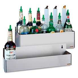 "Stainless Steel Rack Bottle Holders, 6""h x 31 1/8""w x 4 1/8""d"