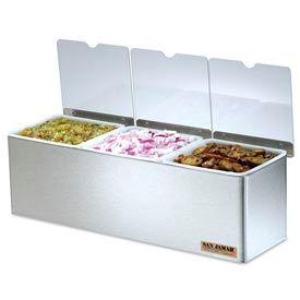 San Jamar® EZ-Chill™ Condiment Center w/Notched Lids, 3 Qts.