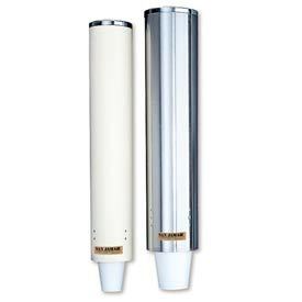 Pull-Type Foam Cup Dispenser, 24 oz. Stainless Steel by