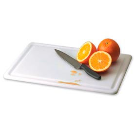 "Kolor-Cut® White Grooved Cutting Board / White / 15""Hx20""Wx0.5""D"