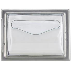 In-Counter Napkin Disp. 19-5/8h x 7w x 5-1/2d,Clear Face,Stainless Body,Fullfold