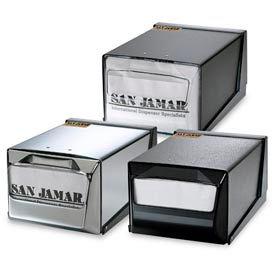 Countertop Napkin Dispensers, 5-1/2 h x 7-5/8 w x 11 d, Clear Face, Chrome Body