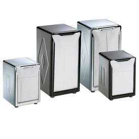 Table-Top Napkin Dispensers, 7-1/2 h x 3-3/4 w x 4 d, Chrome