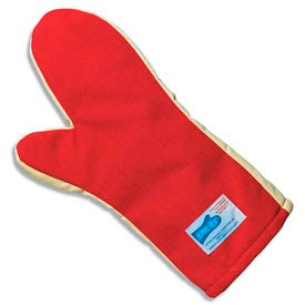 "San Jamar KT0212 - Cool Touch Flame Mitts, Ambidextrous; One Size Fits Most, Red, 12""L"