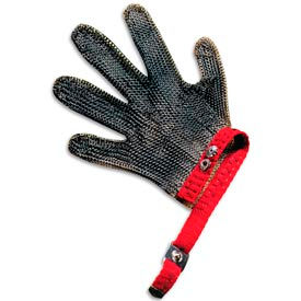 5 Finger, Stainless Mesh Cut Resistant Gloves, Extra Large
