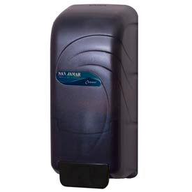 San Jamar® Oceans® 800 ml Soap & Hand Sanitizer Dispenser - Black - S890TBK