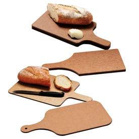 "Tuff-Cut® Bread Boards, 8.5X6.5X3/4"", 4"" Handle & Butter Well"