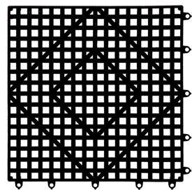 "Versa-Mat®, 12""H x 12"" Black"