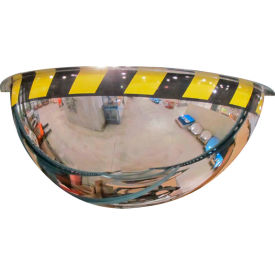 "Se-Kure™ Acrylic Half Dome Mirror with Safety Border, 36"" Diameter"