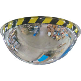 """Se-Kure™ Acrylic Full Dome Mirror with Safety Border, 36"""" Diameter"""