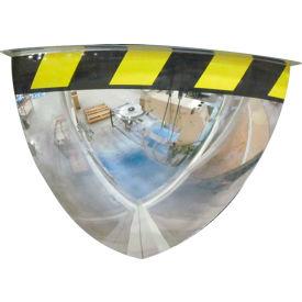 "Se-Kure™ Acrylic Quarter Dome Mirror with Safety Border, 36"" Diameter"