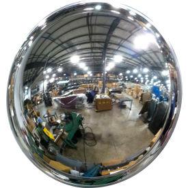 "Se-Kure™ Acrylic DomeVex Wide View Convex Mirror with T Mounting Bracket, 24"" Diameter"