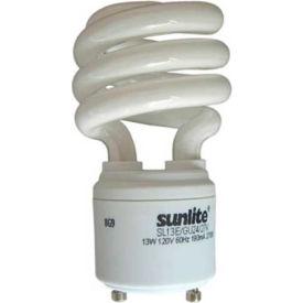 Sunlite® 00655-SU SL13/E/GU24/27K 13W GU24 Spiral CFL Light Bulb, GU24 Base, Warm White