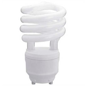 Sunlite® 00791-SU SL18/GU24/50K 18W GU24 Spiral CFL Light Bulb, GU24 Base, Super White