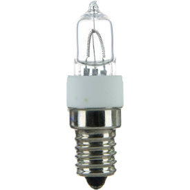Sunlite 03150-SU Q100/CL/E14 100W Single Ended T4 Halogen Bulb, European Base, Clear - Pkg Qty 12