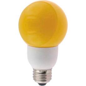 Sunlite® 05690-SU SLG9/Y 9W Yellow Globe CFL Light Bulb, Medium Base - Pkg Qty 24