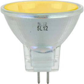 Sunlite 66160-SU 20MR11/GU4/NSP/12V/Y 20W Colored MR11 Mini Reflector Halogen Bulb, GU4 Base, Yellow - Pkg Qty 12