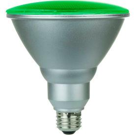 Sunlite 80042-SU PAR38/LED/6W/G 6W PAR38 Colored Reflector, Medium Base Bulb, Green - Pkg Qty 6