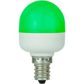 Sunlite 80268-SU T10/LED/0.5W/C/G 0.5W T10 Tubular Indicator, Candelabra Base Bulb, Green - Pkg Qty 10