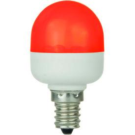 Sunlite 80269-SU T10/LED/0.5W/C/R 0.5W T10 Tubular Indicator, Candelabra Base Bulb, Red - Pkg Qty 10