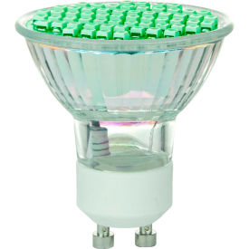 Sunlite 80327-SU MR16/LED/2.8W/GU10/G 2.8W MR16 Colored Mini Reflector, GU10 Base Bulb, Green - Pkg Qty 12