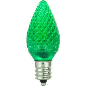 Sunlite 80701-SU C7/LED/0.4W/C/G/6PK 0.4W C7 Colored Night Light, Candelabra Base Bulb, Green - Pkg Qty 20