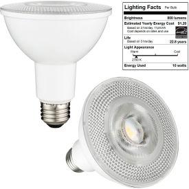 Sunlite 80880-SU PAR30LN/LED/10W/FL40/D/E/27K 10W PAR30 Long Neck Reflector, Dim, 800 Lumens, 2700K - Pkg Qty 6