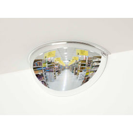 "See All® 180-Degree Steel Half Dome Mirror - Indoor, 12"" Diameter - PVS12-180"