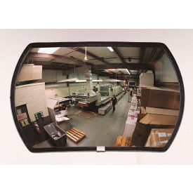 """See All® 160-Degree Round Rectangular Glass Convex Mirror - Outdoor, 12"""" x 18"""" - RRO1218"""