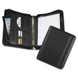 "Click here to buy Samsill Professional 1"" Zipper Binder, 8-1/2"" x 11"", Vinyl Cover, Black."