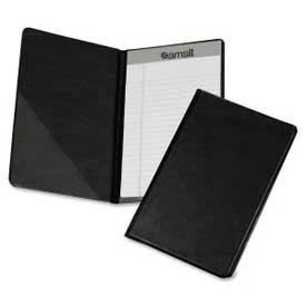 "Samsill® Classic Compact Size Vinyl Pad Holder, 5-1/2"" x 8-1/2"", Black"