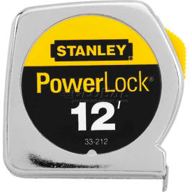 "Stanley 33-212 PowerLock Tape Rule with Metal Case 1/2"" x 12"