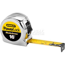 Stanley 33-516 PowerLock Tape Rule W/BladeArmor Coating, 16