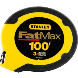 "Stanley 34-130 FatMax® Closed Case Long Tape 3/8"" x 100'"