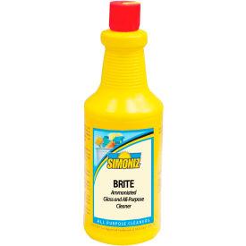 Simoniz® Brite Ammoniated Glass, Window, & All Purpose Cleaner 32 oz. Bottle, 12/Ca - B0412012