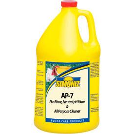 Simoniz® AP-7 Neutral pH Floor Cleaner, Gallon Bottle, 4 Bottles - P2666004