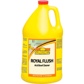 Simoniz® Royal Flush Toilet Bowl and Urinal Cleaner Gallon, 4/Case - R3055004