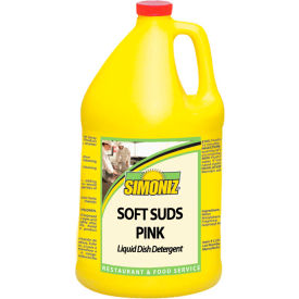 Simoniz® Soft Suds Pink Liquid Dish Detergent Gallon Bottle, 4/Case - S3351004