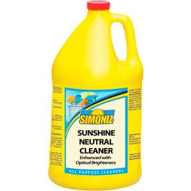 Simoniz® Sunshine Neutral Floor Cleaner, Gallon Bottle, 4 Bottles - S3497004