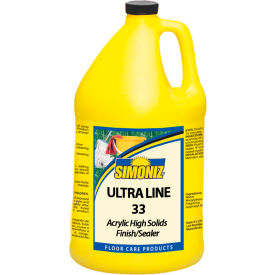 Simoniz® Ultra Line 33 Floor Finish & Sealer, Gallon Bottle, 4 Bottles - UL0700004