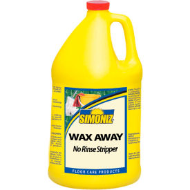 Simoniz® Wax Away No Rinse Floor Stripper, Gallon Bottle, 4 Bottles - W42150004