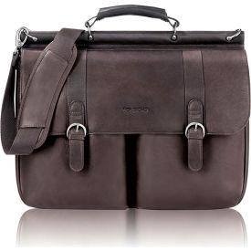 "Buy Solo Laptop Portfolio, D5353, For 16"" Notebook, 16-1/2""W X 5""D X 13""H, Leather, Espresso"