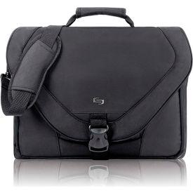 """Buy Solo Laptop Messenger Bag, PT9204, For 17"""" Laptop, 18""""W X 4""""D X 13""""H, Black"""