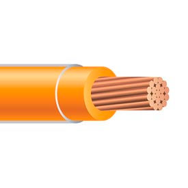Southwire 23849312 THHN 8 Gauge Building Wire, Stranded Type, Orange, 500 ft