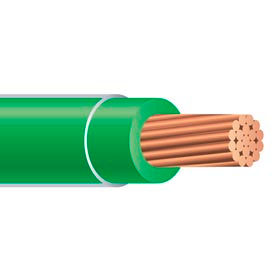 Southwire 25172801 THHN 4 Gauge Building Wire, Stranded Type, Green, 500 ft