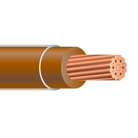 Southwire 26069501 THHN 6 Gauge Building Wire, Stranded Type, Brown, 500 ft