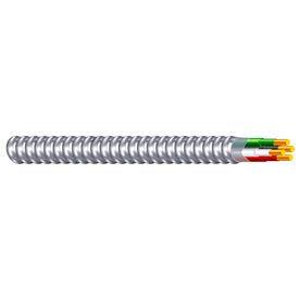 Southwire 68580023 12/2 AWG, THHN Black/White/Green Aluminum MC, 100 ft