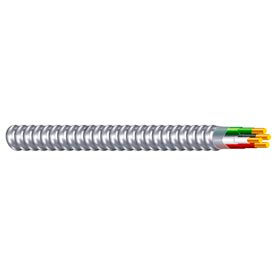 Southwire 68582623 14/3 AWG / THHN Black / White / Red / Green Aluminum MC / 100 ft